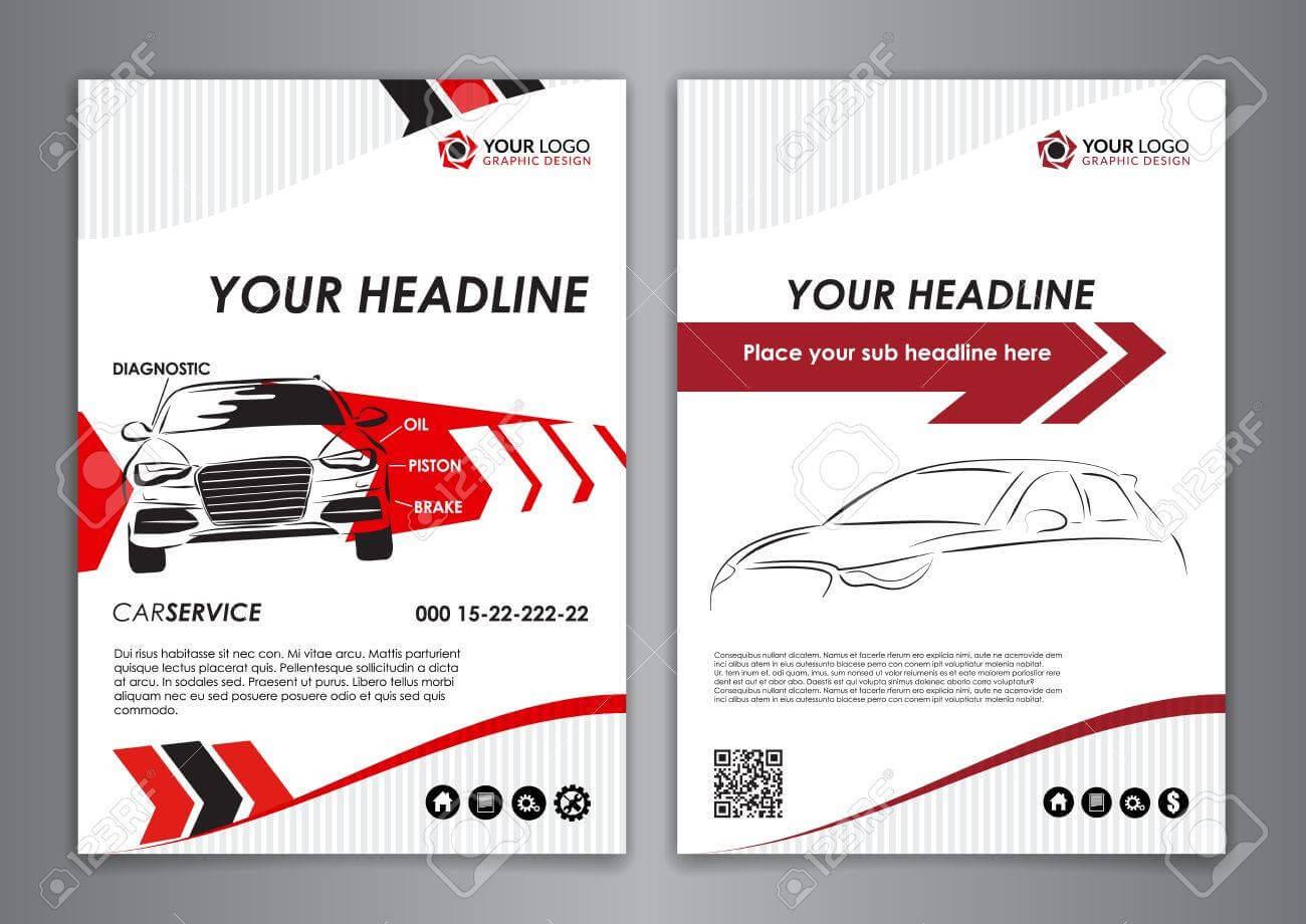 A5, A4 Set Service Car Business Card Templates. Car Repair Business.. For Automotive Business Card Templates