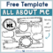 About Me Writing Template – Whimsy Workshop Teaching Throughout All About Me Book Template