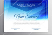 Abstract Blue Award Certificate Design Template — Stock throughout Award Certificate Design Template