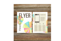 Abstract Brochure Flyer Design Template in Bulletin Board Flyer Template