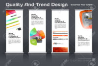 Abstract Business Vector Set Of Modern Roll Up Banner Stand Design.. within Banner Stand Design Templates