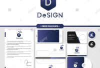 Abstract Design Logo Branding With Business Card, Letterhead intended for Business Card Letterhead Envelope Template