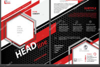 Abstract Flyer Template Black Red Stripes Hexagons White intended for Adobe Illustrator Flyer Template