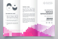 Abstract Trifold Business Brochure Template With regarding Business Service Catalogue Template