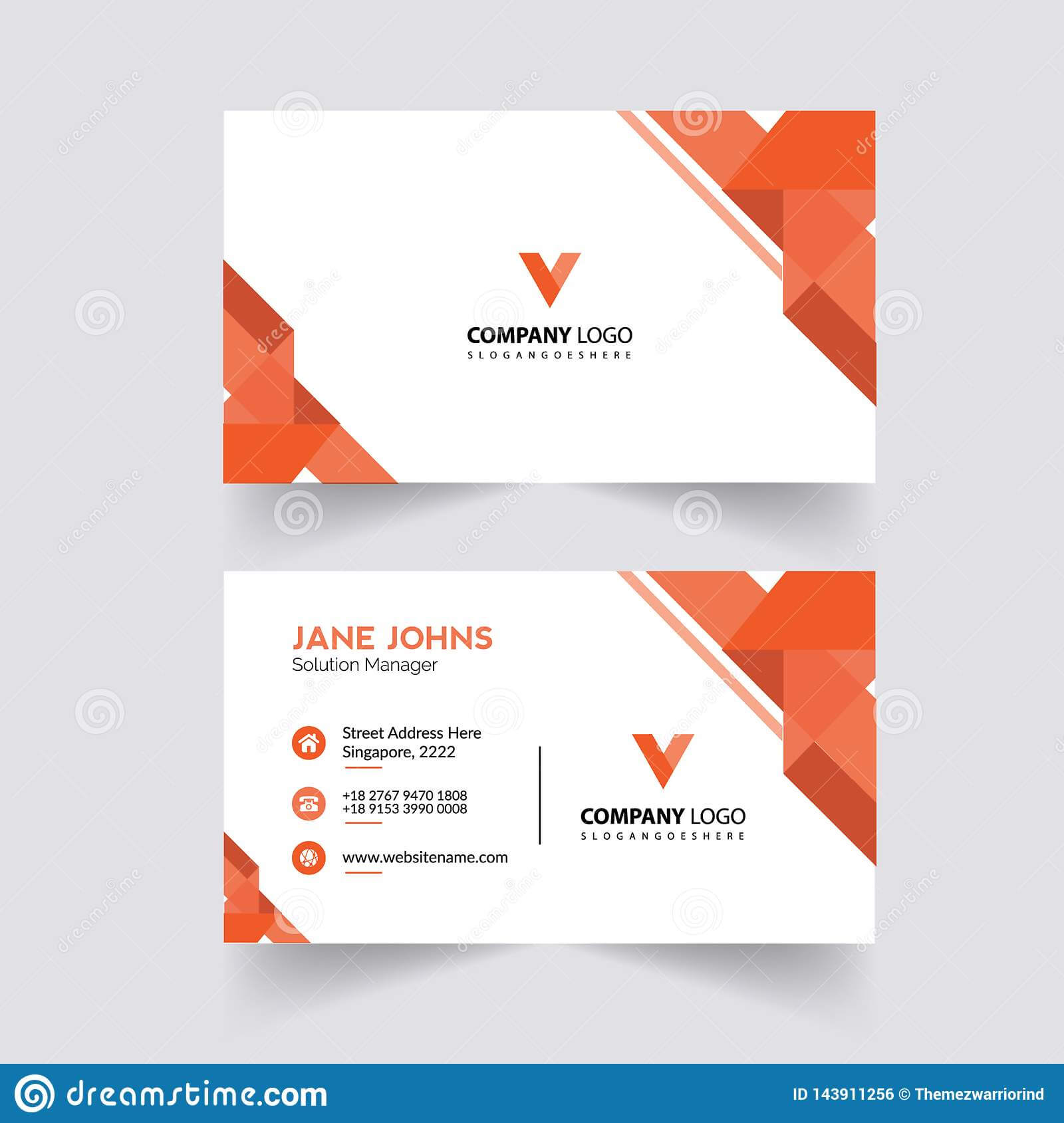 Abstruct Business Card Template Stock Illustration Regarding Adobe Illustrator Business Card Template