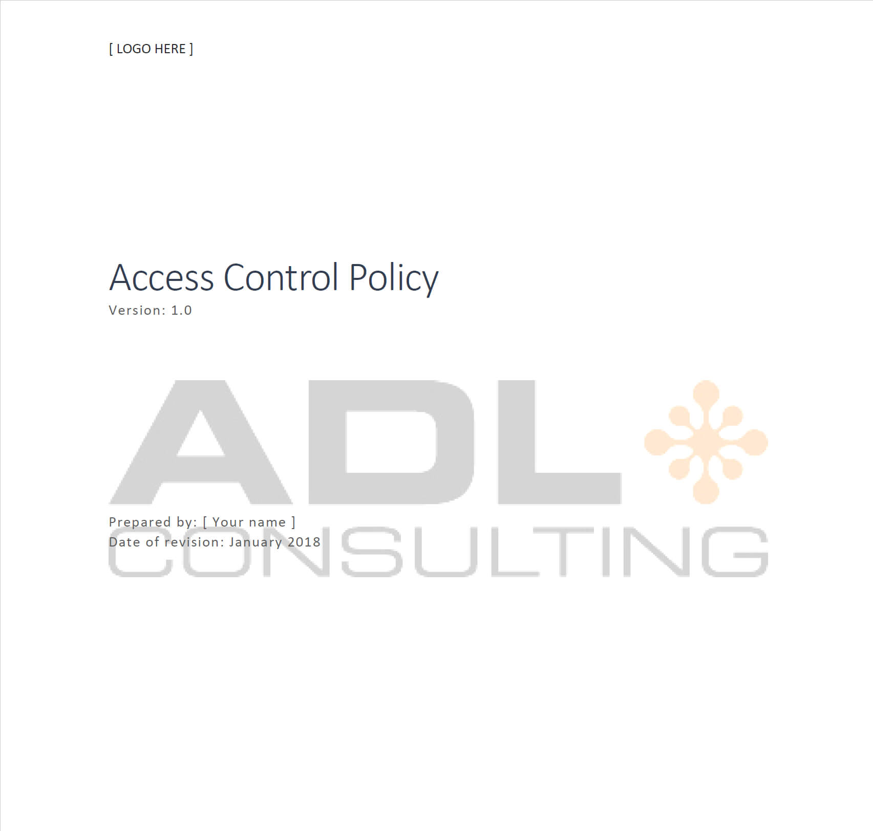 Access Control Policy Template | Adl Consulting Throughout Access Control Policy Template