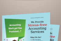 Accounting And Bookkeeping Services Flyers On Behance inside Accounting Flyer Templates