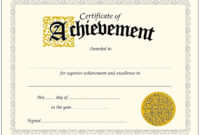 Achievement-Certificate-Best-Of-Trend-Enterprises-Classic pertaining to Certificate Of Achievement Template Word