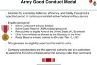 Administer Awards And Decorations – Ppt Download within Army Good Conduct Medal Certificate Template