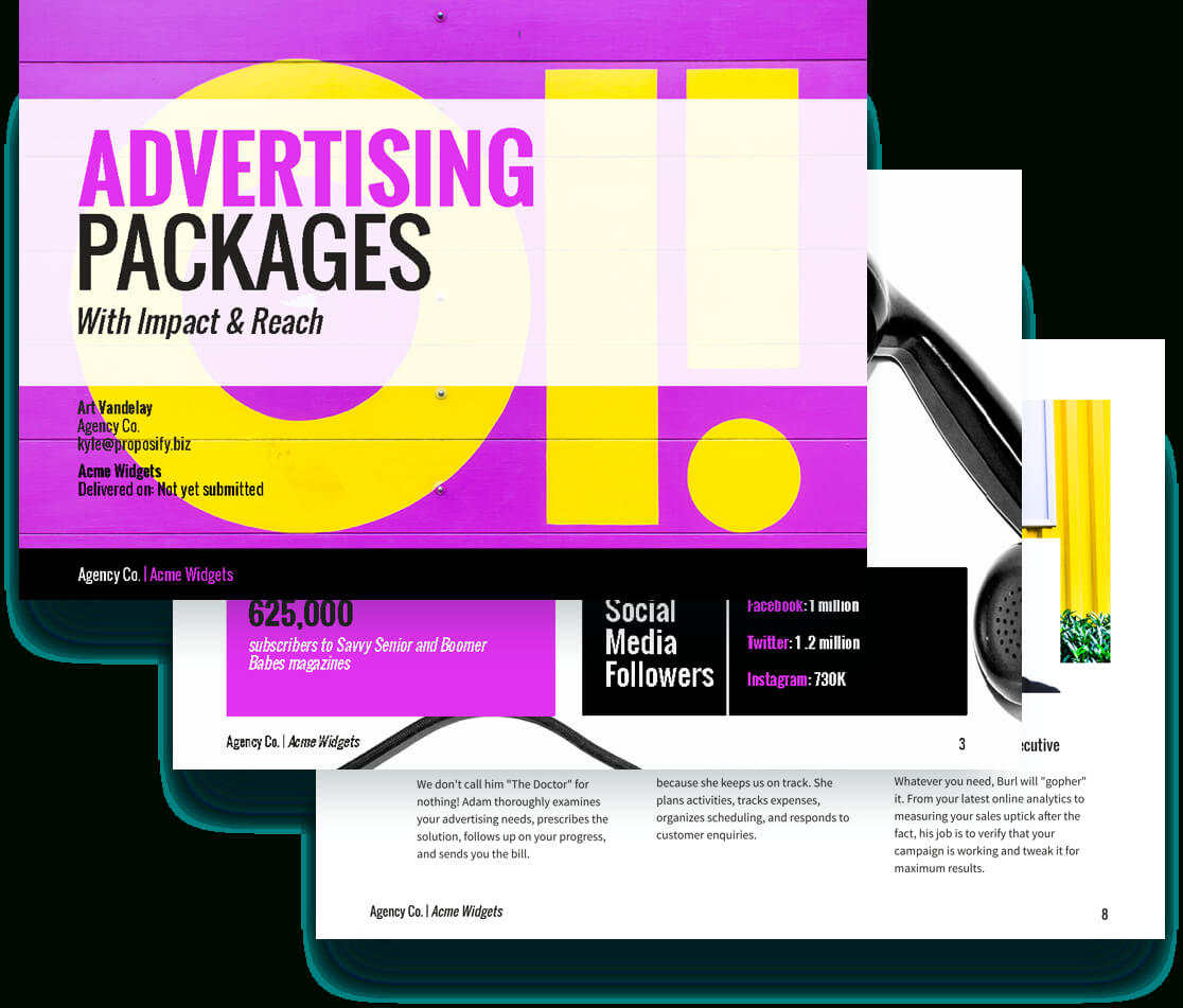 Advertising Proposal Template - Free Sample | Proposify Regarding Advertising Proposal Template
