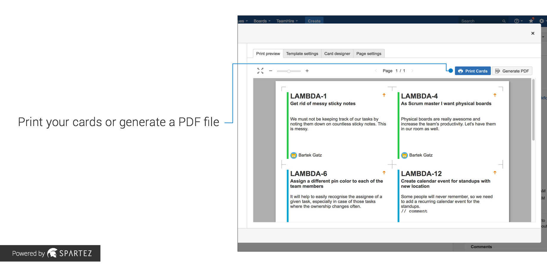 Agile Cards - Print Issues From Jira | Atlassian Marketplace Inside Agile Story Card Template