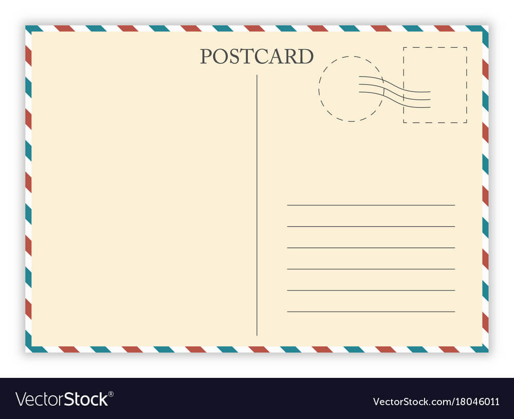 Air Mail Postcard Template Inside Airmail Postcard Template