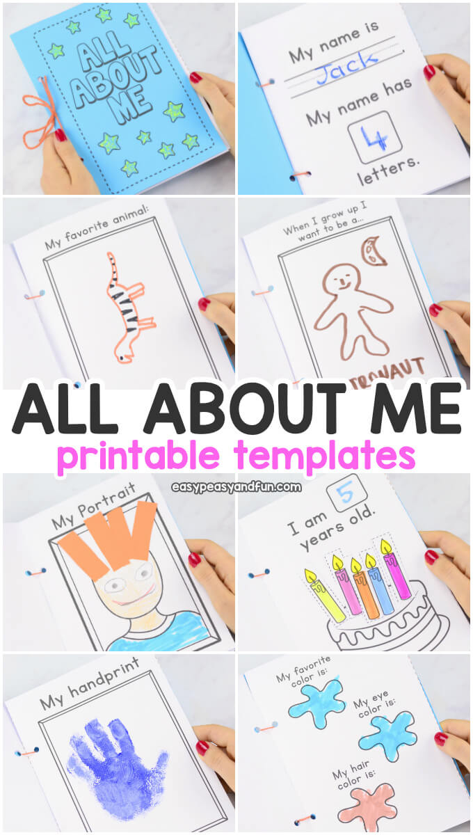 All About Me Printable Book Templates - Easy Peasy And Fun With All About Me Book Template