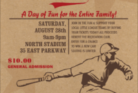 All-Star Retro Baseball Flyer regarding Baseball Fundraiser Flyer Template