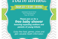 Amazing Baby Shower Flyer Ba Appealing 67 For Your Idea Work in Baby Shower Flyer Templates Free