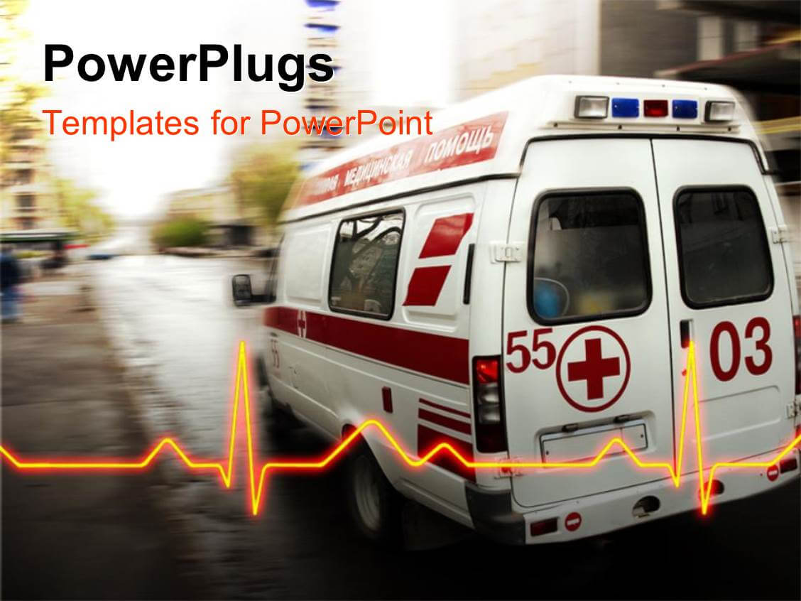 Ambulance Powerpoint Templates W/ Ambulance Themed Backgrounds Inside Ambulance Powerpoint Template