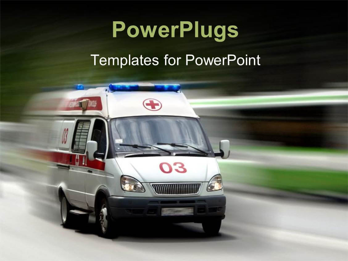Ambulance Powerpoint Templates W/ Ambulance Themed Backgrounds Throughout Ambulance Powerpoint Template