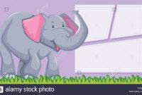 An Elephant On Blank Template Illustration Stock Vector Art for Blank Elephant Template