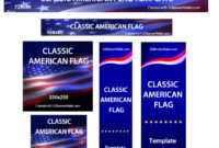 Animated Classic American Flag Flash Banner . Customize intended for Animated Banner Templates