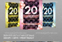 Anniversary – Flyer Psd Template » Free Download Photoshop regarding Anniversary Flyer Template Free