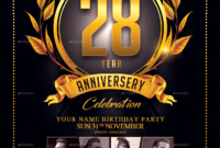 Anniversary Flyer Template for Anniversary Flyer Template Free