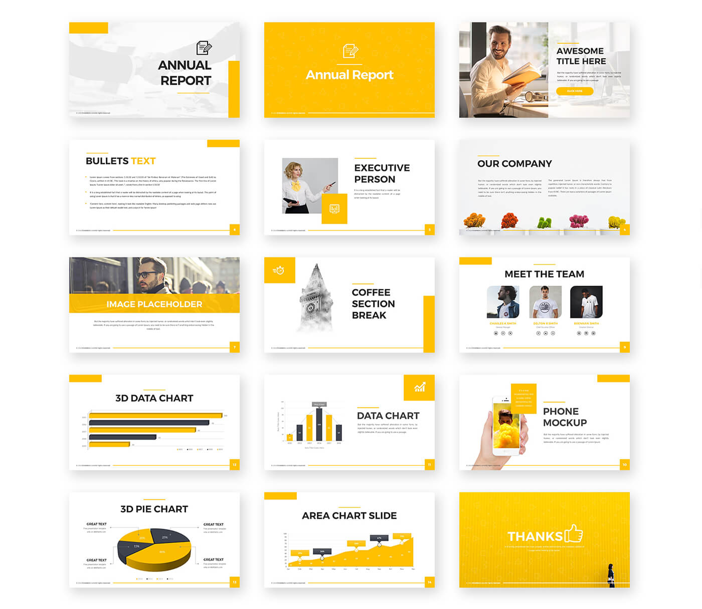 Annual Report Powerpoint Template – Free Presentations Regarding Annual Report Ppt Template