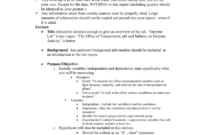 Ap Biology Formal Lab Report Format regarding Biology Lab Report Template