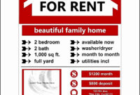 Apartment For Rent Flyer Template Free – Horizonconsulting.co within Apartment Rental Flyer Template
