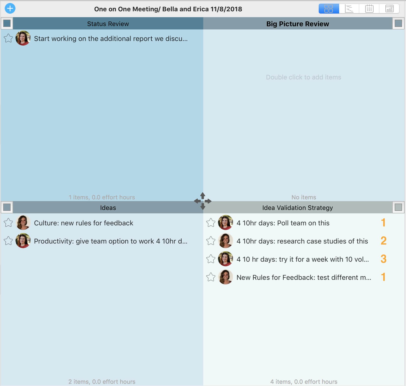 Appfluence:productivity:one On One Meeting Template:1 Intended For 1 On 1 Meeting Template