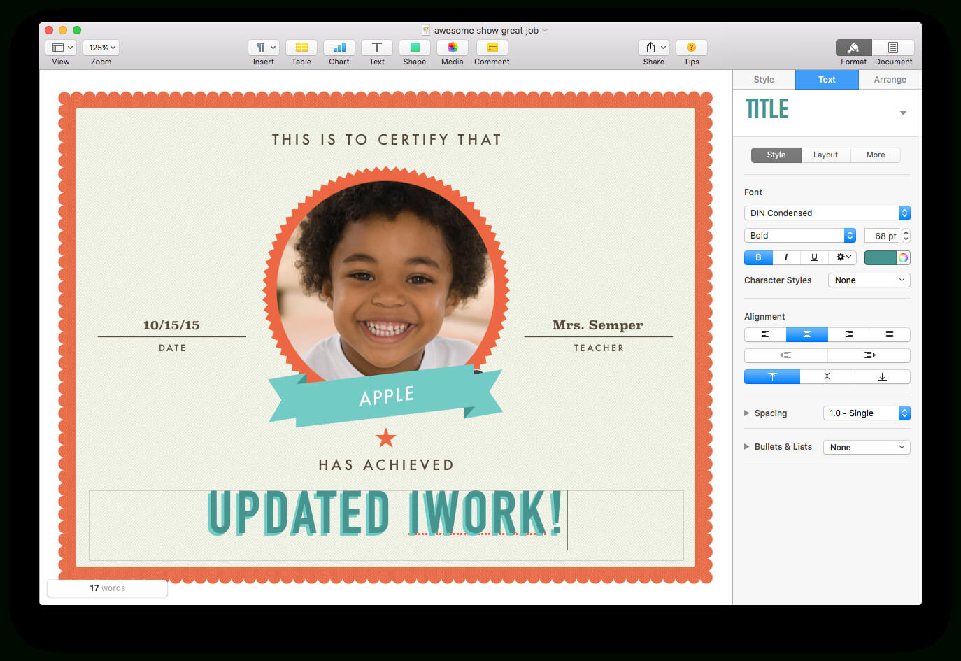 Apple Updates Iwork For Mac, With Force Touch And Split View For Certificate Template For Pages
