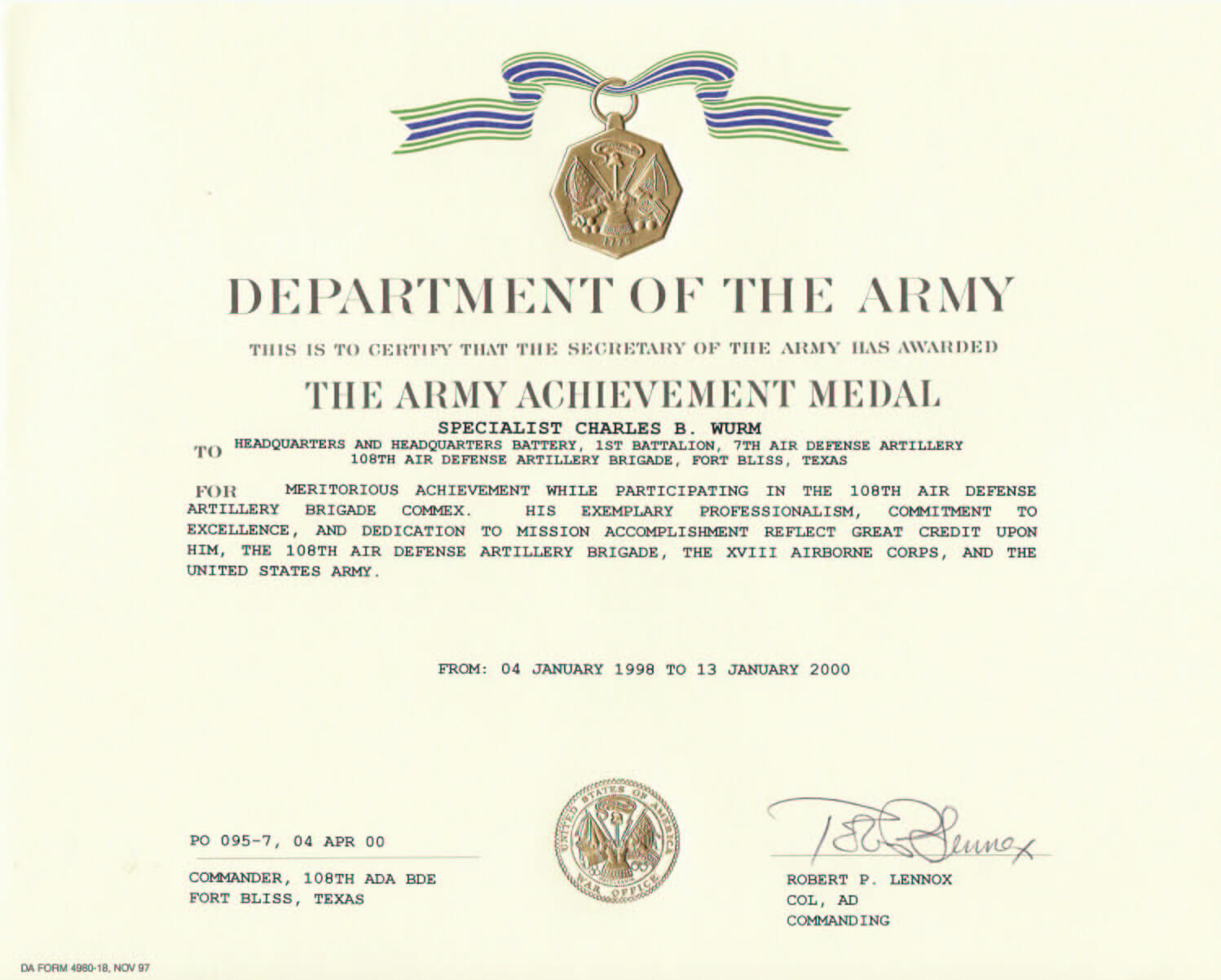 Army Achievement Medal Certificate Template ] – States Army Intended For Certificate Of Achievement Army Template