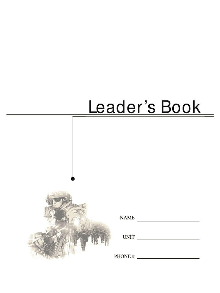 Army Leaders Book - Fill Online, Printable, Fillable, Blank Within Army Leaders Book Template
