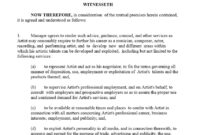 Artist Agreement Contract Template | Free Resume Templates with regard to Business Management Contract Template