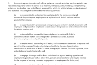 Artist Management Agreement | Templates At with regard to Business Management Contract Template