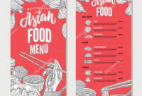 Asian Restaurant Menu Templates | Asian Food Restaurant Menu with Asian Restaurant Menu Template