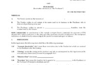 Asset Purchase Agreement For Franchise | Canada with Asset Purchase Agreement Template