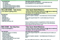 Asthma Self Management Plan Plans Planning For Action The throughout Asthma Action Plan Template