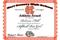 Athletic Award Certificate Templates – Cucca with regard to Athletic Certificate Template