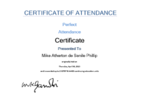 Attendance Certificate Sample | Templates At pertaining to Attendance Certificate Template Word