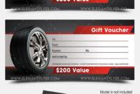 Auto Shop – Premium Gift Certificate Psd Template with regard to Automotive Gift Certificate Template