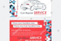 Automotive Service Business Card Template Car Stock Vector in Automotive Business Card Templates