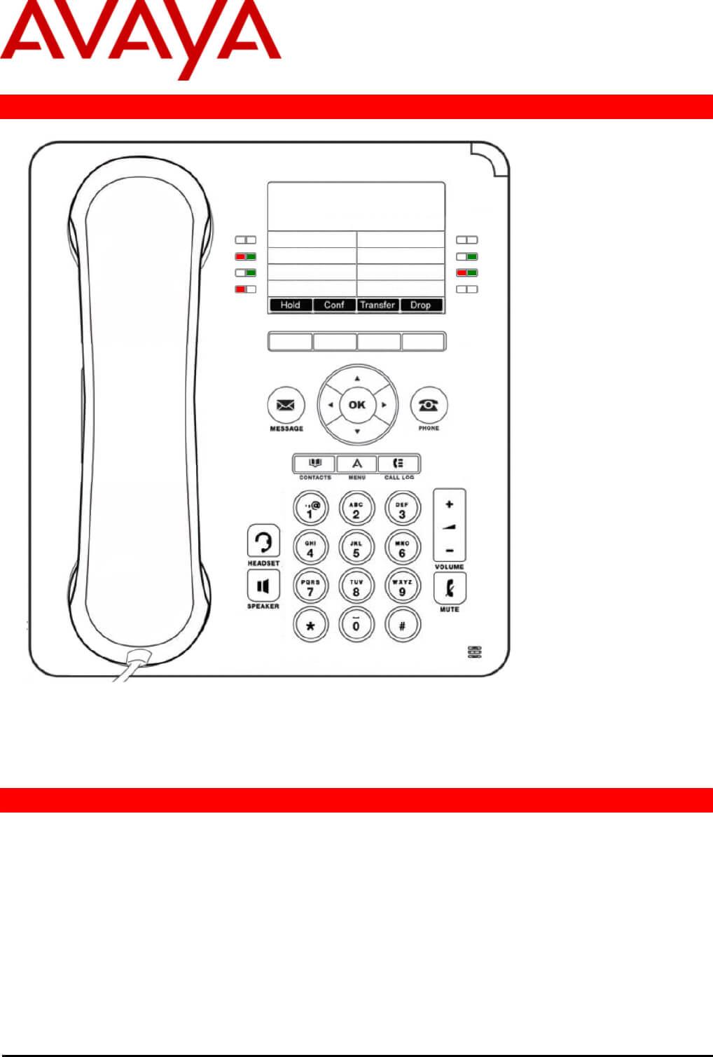 Avaya Telephone 9508 User Guide   Manualsonline In Avaya Phone Label Template
