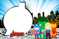 Avengers Chibi Style: Free Printable Invitations. – Oh My for Avengers Birthday Card Template