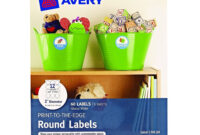 Avery 22817 Print-To-Edge Round Labels, 2Inch – The Birch intended for 2 Inch Round Label Template