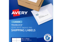 Avery 959031 L7173 Trueblock Shipping Label Laser 10Up White for 10 Up Label Template