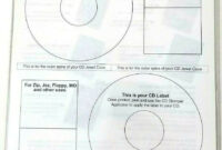 Avery 98122 Labels For Use With Cd Stomper Cd/dvd Labeling System White  Matte pertaining to Cd Stomper 2 Up Standard With Center Labels Template