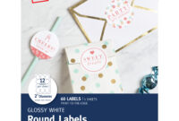 "Avery Circle Labels, Laser/inkjet, 2"", 60 Glossy Labels (22817) –  Walmart in 2 Inch Round Label Template"