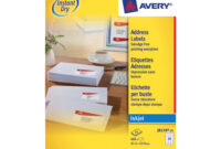 Avery Quick Dry Addressing Labels Inkjet 24 Per Sheet 63.5 pertaining to 99.1 Mm X 38.1 Mm Label Template