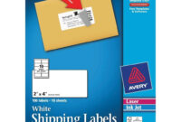 Avery White Shipping Labels 2″ X 4″ (18163) – Office Systems with regard to 2 X 4 Label Template 10 Per Sheet