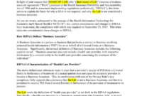 Baa Model Response Letter (Modify Information As Indicated inside Business Associate Agreement Hipaa Template